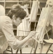 Bobby Lowenberg at Painting Class 1966