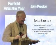 "John Preston ""Fairfield Artist of the Year"" awarded by Fairfield Entrepreneur Association and Fairfield Art Association January 28th, 2016 __ WATERCOLOR CLASSES"